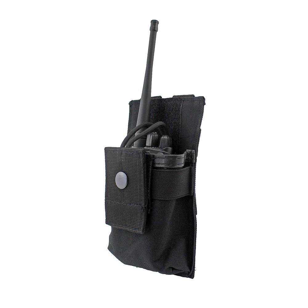 Tactical Radio Case Holder Holster Walkie Talkie Holster Adjustable Molle Pouch Open Top Magazine M4 Mag Pouch аксессуары для раций oem walkie talkie motorola baofeng 5r yaesu icom wouxun kenwod carry case nylon case
