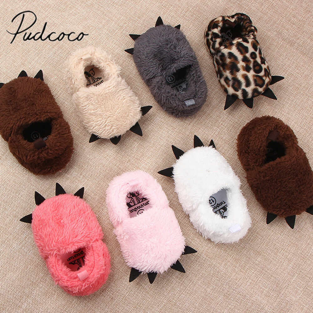 2019 Baby Winter Warm Boots Baby Monster Claw Boots Baby Moccasins Shoes Boots Newborn Infant Indoor Plush Sole Prewalkers Crib