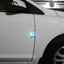 Автомобильная дверь Антистатическая Солнечная энергия защита Бампер анти-столкновения светодиодный аварийный бар декоративный светильник