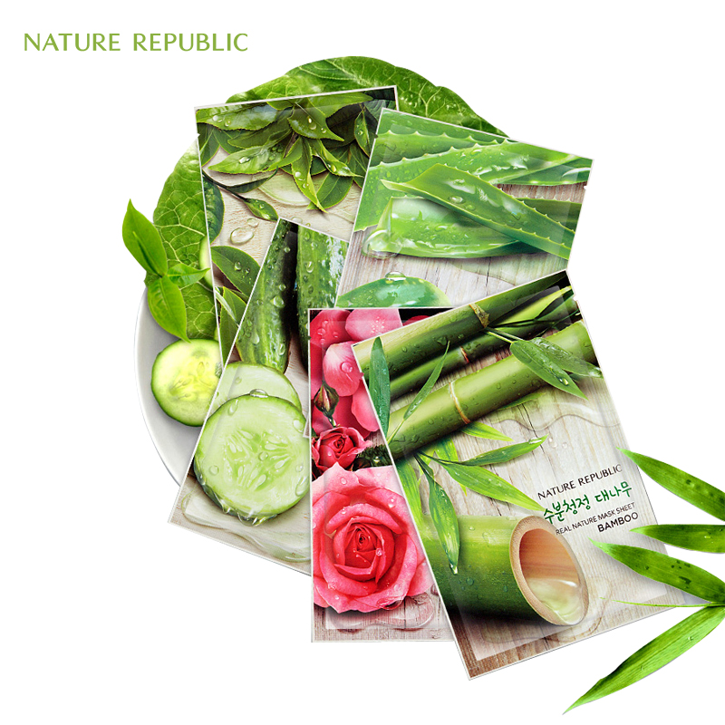 EXO Nature Republic Korean Sheet Mask Moisturizing Oil Control Natural Essence Whitening Facial Mask Plant Skin Face Mask in Treatments Masks from Beauty Health