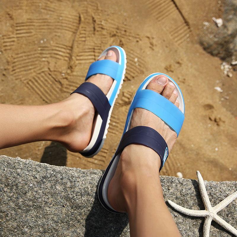 LAISUMK Summer Beach Men Slippers Casual Shoes Double Buckle Man Slip on Flip Flops Flats Camouflage Flip Flop Indoor & Outdoor 103