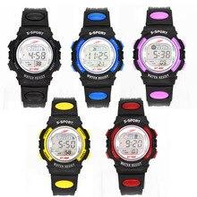 LED de Moda Reloj Digital Del Deporte Embroma Niñas Niños Niños Estudiantes De Goma Reloj de Pulsera Relojes
