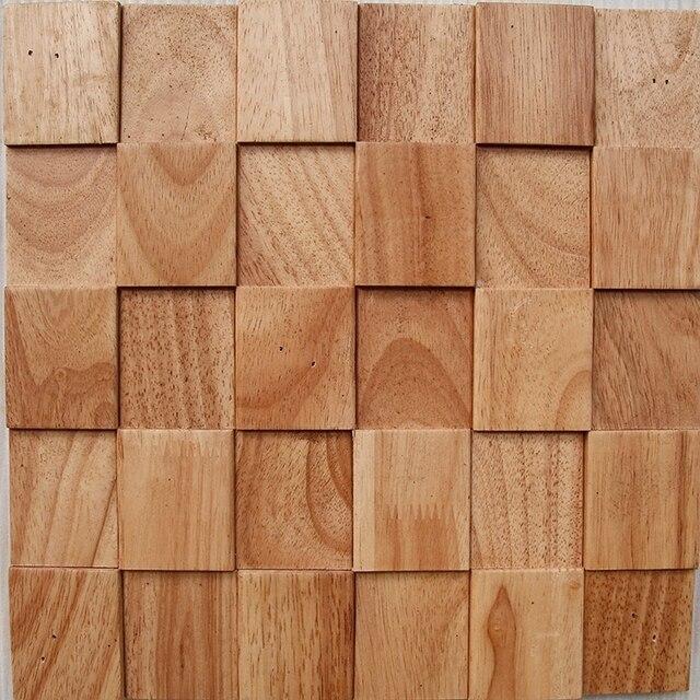 2 Quadratmeter Pack Naturkautschuk Holz Mosaik Fliesen Holz Fliesen
