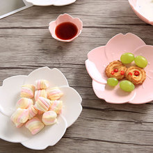 NIMITIME Ceramic  Pink Plates Chili Sauce Dish Salad Bowl Dinnerware Tableware