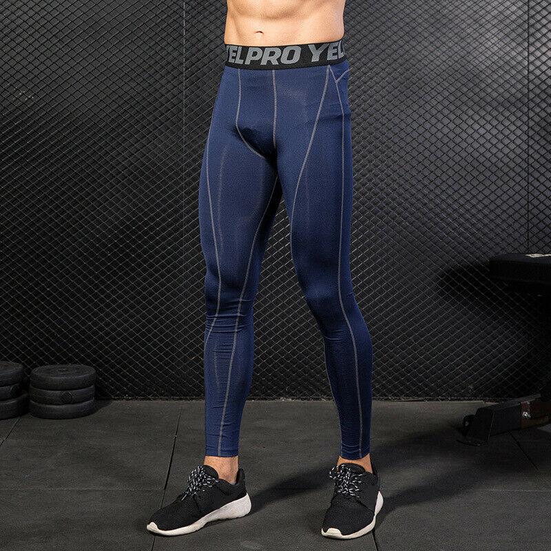 Hirigin Herren Athletisch Gym Lange Hosen Kompression Läuft Workout Unter Strumpfhosen Basis Schicht