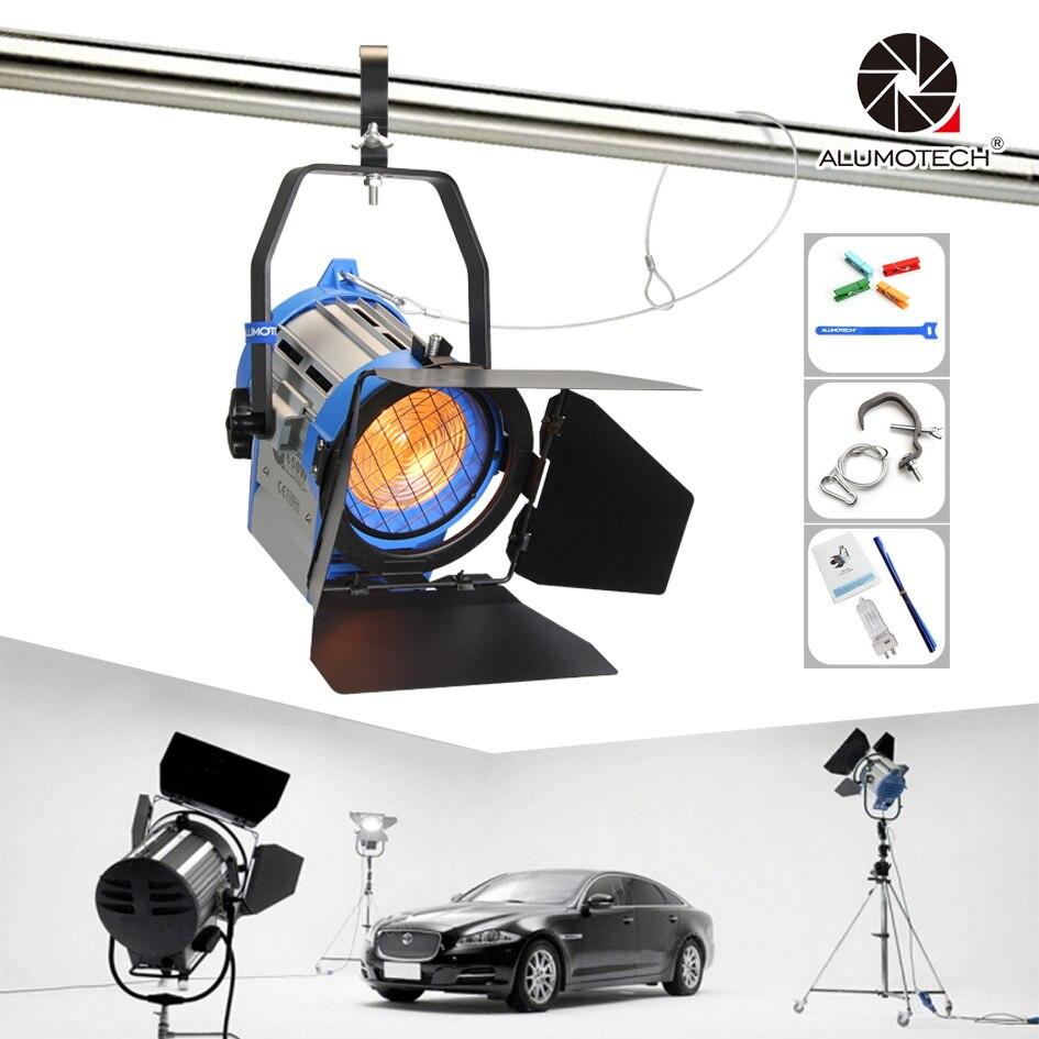 ALUMOTECH Pro como ARRI 650 W tungsteno Spot light + Dimmer Built-in + globos iluminación para cam