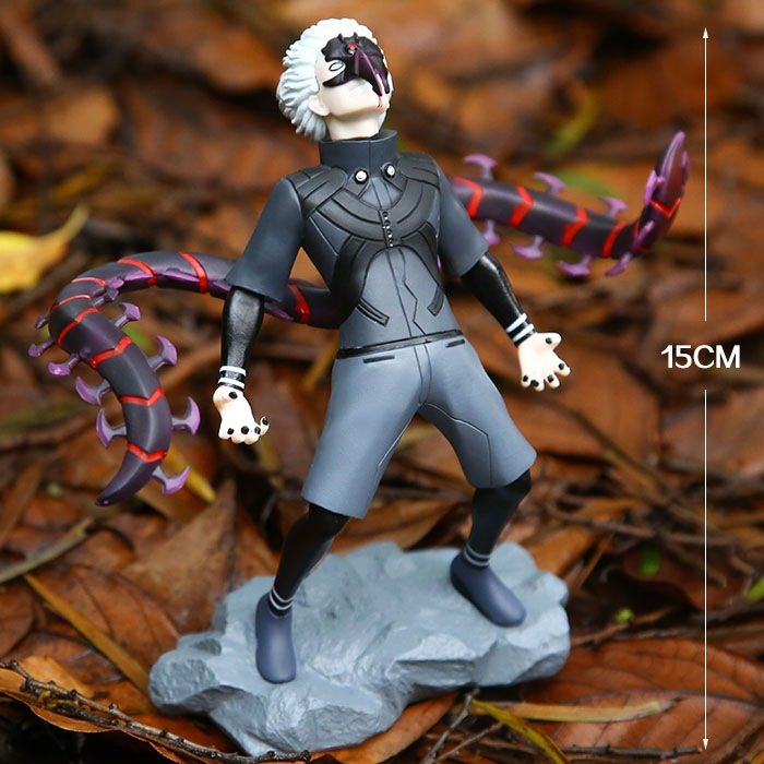 NEW hot 15cm Tokyo Ghoul Kaneki Ken generation of dark Jin Muyan action figure toys collection Christmas gift doll with box anime tokyo ghoul mask cosplay figure kaneki ken action figure brinquedos party adjustable zipper prop juguetes hot kids toys