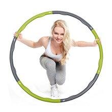 Home Fitness 0 9 KG HULA Hoop Plastic Abdominal Health Foam Massage Hula Hoop Weight Loss