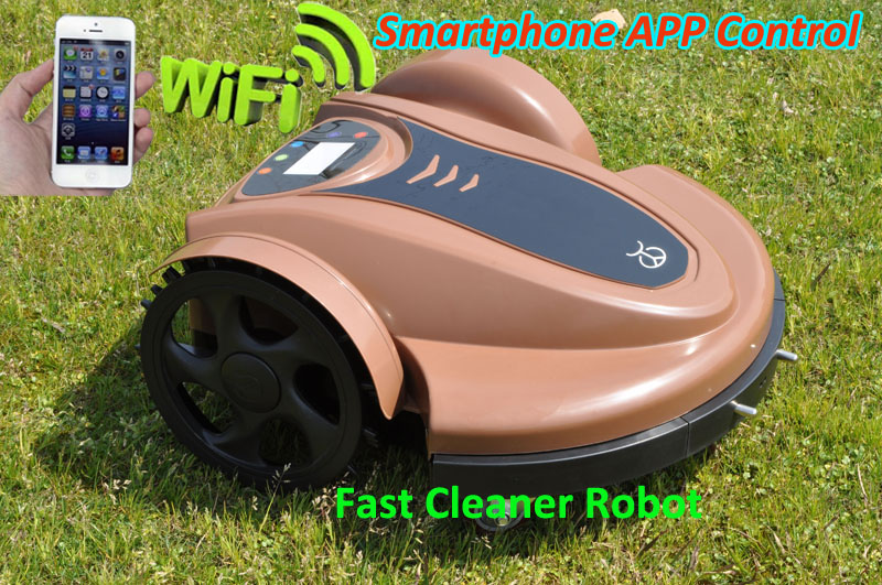 WIFI APP Robot GrassTrimmer,Garden Robot Tool With Lithium Batery Updated Water-Proofed Charger+Subarea Function+Pressure Sensor newest wifi app smartphone wireless remote control lawn mower robot with water proofed charger range subarea compass functions