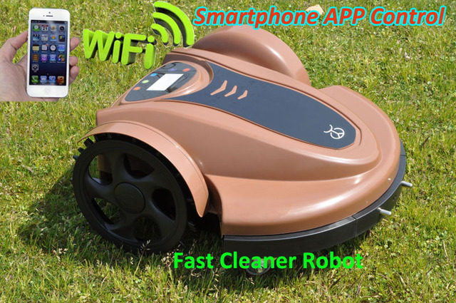 WIFI APP Robot GrassTrimmer,Garden Robot Tool With Lithium Batery Updated Water-Proofed Charger+Subarea Function+Pressure Sensor