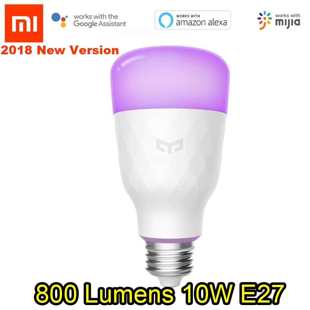 цена на 2018 (Update version) Xiaomi mijia yeelight smart LED bulb colorful 800 lumens 10W E27 Lemon Smart bulb For mi home App