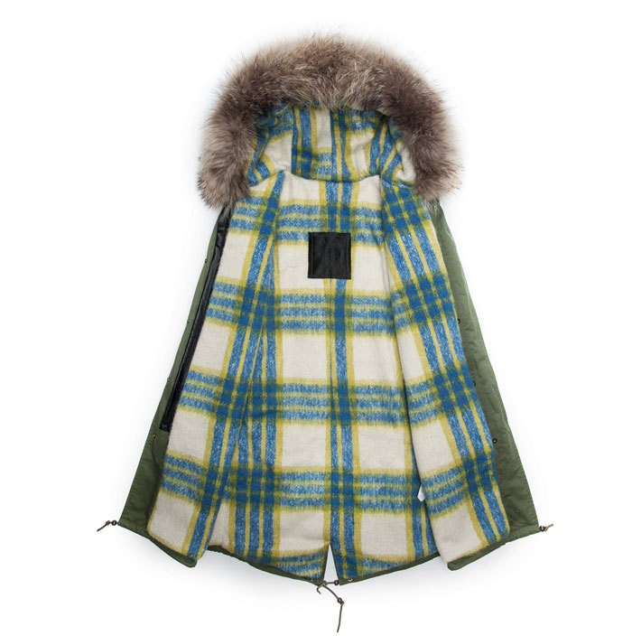 fur hoodes parka special lining parka thick Male parka