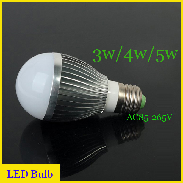 groothandel 5 stukspartij 3w4w5w led lamp licht e27 led verlichting 220
