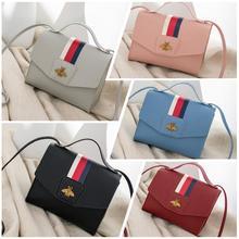 PinShang Female Mini Square Bag PU Single Handle Satchel for Phone Items Organize недорого