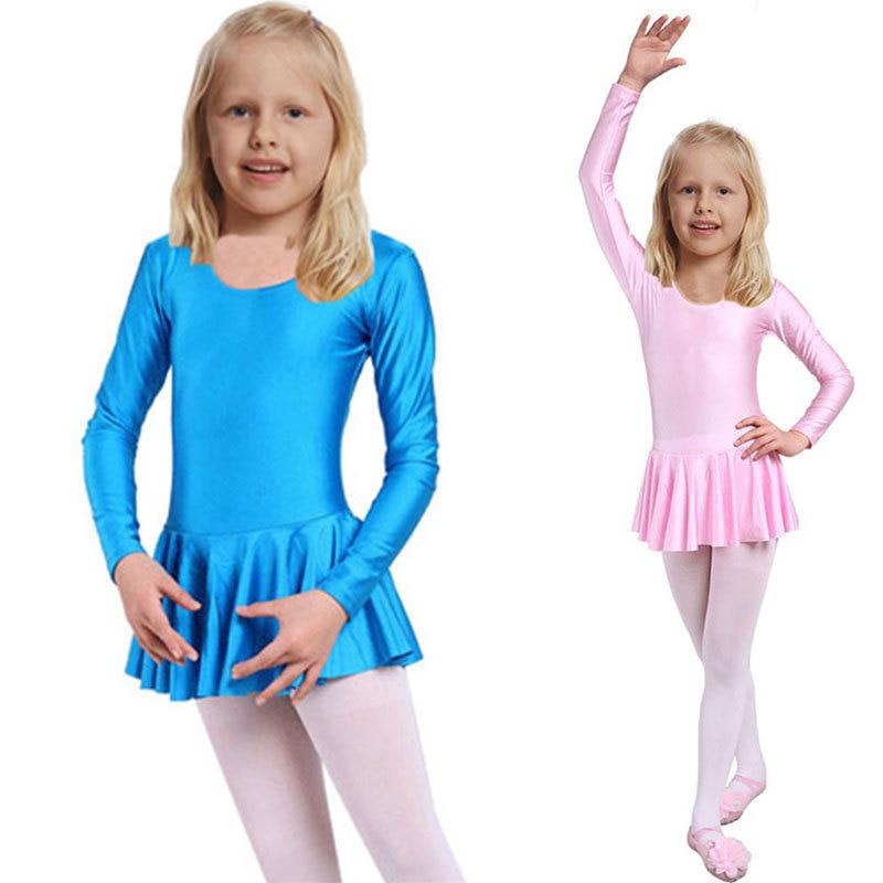Nova dekliška baletna obleka za otroke dekliška oblačila za otroke Baletne noše za dekleta Dance Leotard z dolgimi rokavi Girl Dancewear