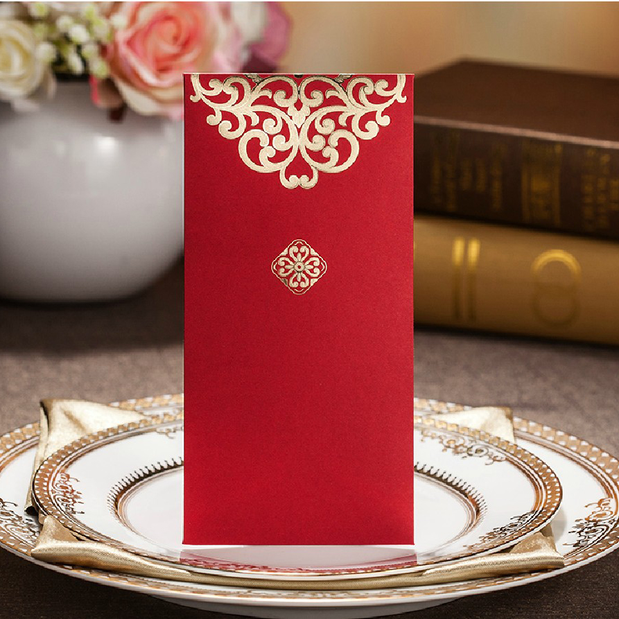 Gold Printed Wedding Invitation Envelope Envelope For Bridal Shower