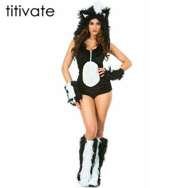 TITIVATE Adult Halloween Anime Show Jumpsuit Women Cat Girl Costume Sexy Bar Stage Halloween Animal Role  sc 1 st  AliExpress.com & TITIVATE Adult Halloween Anime Show Jumpsuit Women Cat Girl Costume ...