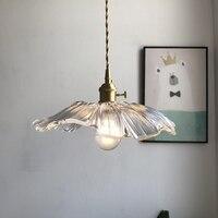 Decoração da casa flor forma lustre iluminação led design de arte lustre de vidro transparente abajur lâmpada pendurada