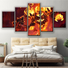 Modular Wall Art Framework Decor 5 Piece Game Heroes of the Storm Poster Ragnaros Painting Living Room Canvas HD Print Picture