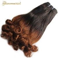 Перуанский Надувной вьющиеся человеческие волосы трессы 3 Связки Fumi локоны Фунми remy химическое наращивание волос для черный для женщинбесп