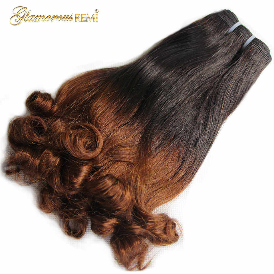 Peruvian Bouncy Curly Human Hair Double Drawn 3 Bundles Fumi Funmi Curl Remy Hair Extension For Black Women Free Shipping 1b/30
