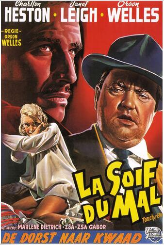 FILM noir movie POSTER TOUCH OF EVIL HESTON & LEIGH SILK POSTER Decorative painting 24x36inch image