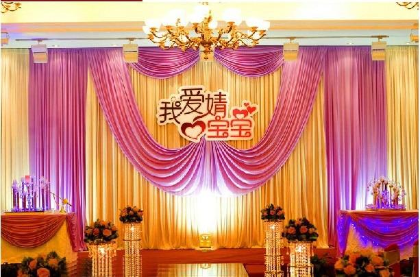 3m 6m Fabric Satin Drape Curtain Wedding Backdrop Canopy