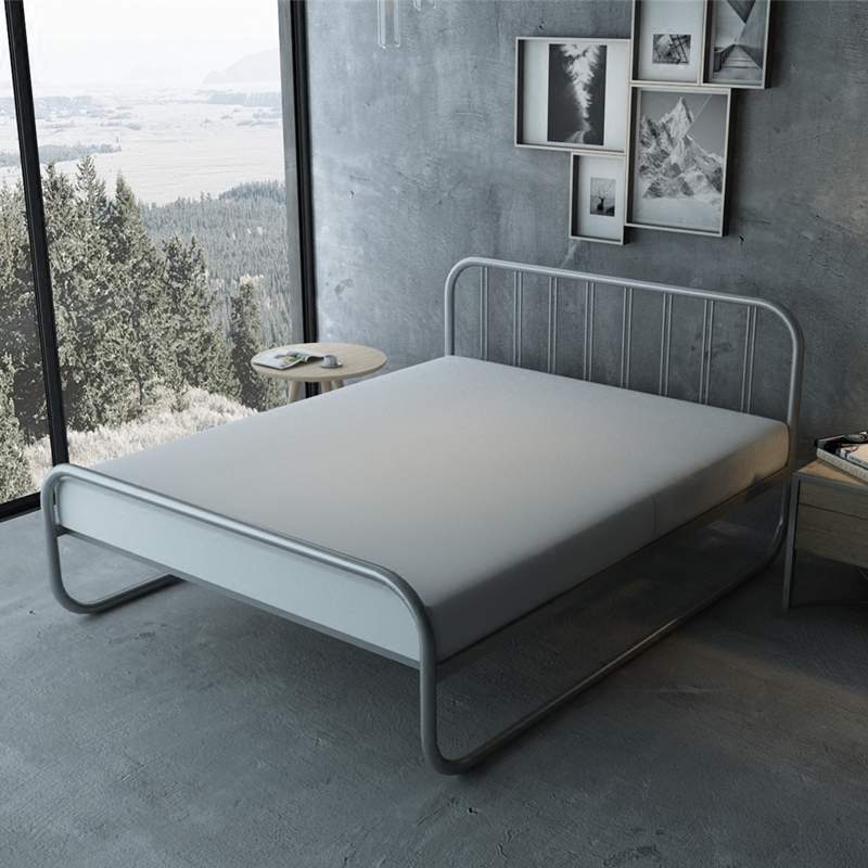 Modern simple 1.2m 1.5m 1.8m single double iron bedModern simple 1.2m 1.5m 1.8m single double iron bed
