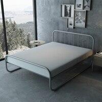 Simples moderno 1.2m 1.5m 1.8m cama de ferro de casal único|Camas| |  -