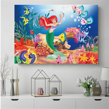 Animation Little Mermaid Characters Canvas Posters Prints Wall Art Painting Decorative Picture Modern Home Decoration Framework