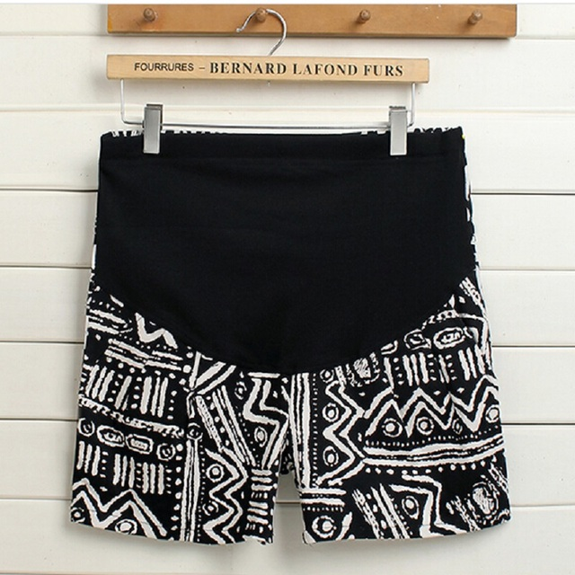 2016 summer new pregnant women care belly pants Fashion big yards retro print pattern pregnant women shorts Jeans casual pants