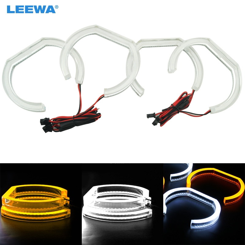 LEEWA Car Crystal LED Angel Eyes LED DRL SMD Halo Ring Kits For BMW F30/F35 3 Series 2012-2014 White/RGB/White+Yellow #CA2239 китаро kitaro silk road 1