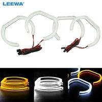 LEEWA Car Crystal LED Angel Eyes LED DRL SMD Halo Ring Kits For BMW F30/F35 3 Series 2012 2014 White/RGB/White+Yellow #CA2239
