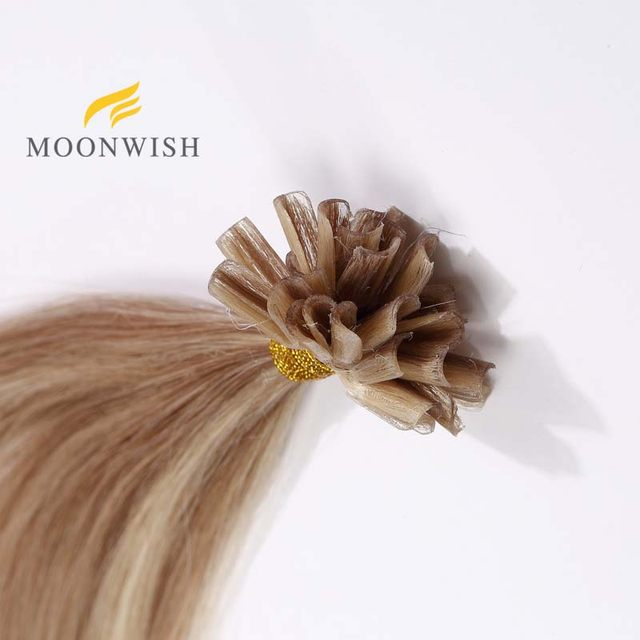 Online Shop Moonwish 20 Remy Nail U Tip Hair Extensions Straight