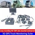 DC8V-36V широкое напряжение  4-канальное видео  авто покрытие  HD 720P 3G GPS грузовик монитор комплект экскаватор/большой грузовик/автобус ночное вид...