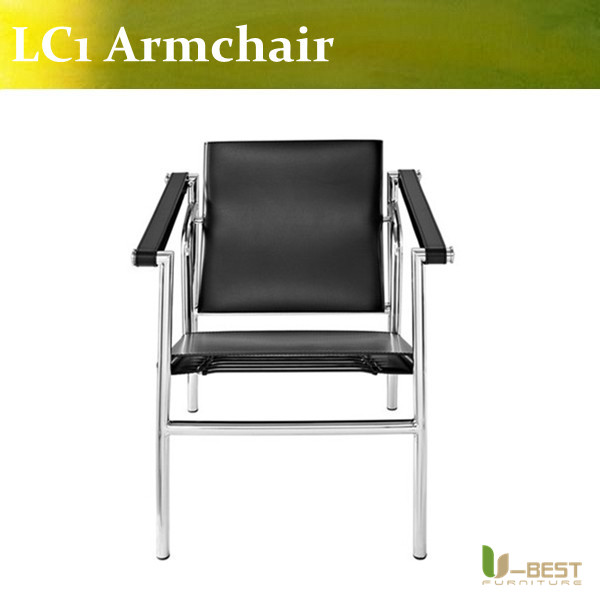 U-BEST Le Corbusier Basculant LC1 Lounge Chair, ergonomic living room leather LC1 sling chair le corbusier the city of tomorrow pr only