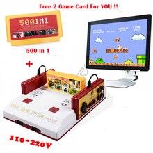 Caliente Venta de Videojuegos Consola PAL Formato Clásico 8Bit TV Familia Consolas de Videojuegos Reproductor Con 500 En 1 Tarjeta de Juego Libre gratis