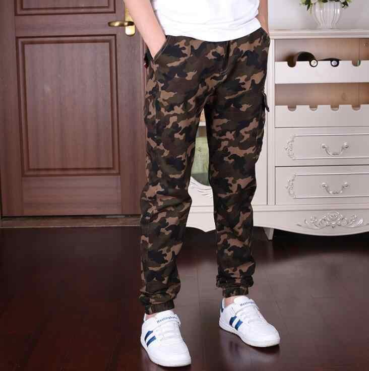 Pantalones De Camuflaje Militar Para Correr Para Ninos Y Adolescentes Pantalones De Algodon De Talla 6 8 10 12 14 Y 16 Anos Primavera Y Otono Pantalones Aliexpress