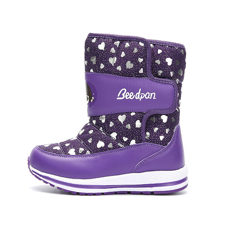 2018 New Children Snow Boots Kids Boots for Girls Warm Winter Warm Cotton Shoes Girls Snow Boots Children Size EUR 26-37# uovo christmas winter warm children medium knitted wool snow boots for kids girls cow suede cotton boots shoes for 4 10t ccs027