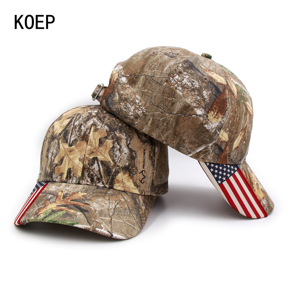 KOEP 2018 Fashion Hunting Camouflage Baseball Cap Women's Men's Snapback Hat Summer Outdoor Fishing Hats For Men Army Camo Caps jxgxsx spring summer mens army camouflage camo cap cadet casquette desert camo hat baseball cap hunting fishing blank desert hat