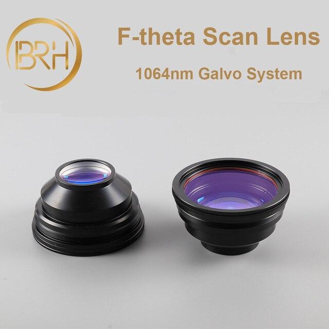 BRH F theta Lente Lente di Campo 1064nm di Scansione 50x50 300x300mm FL.63 420mm Filo M85X1 per Laser In Fibra marcatura di Parti di Macchine