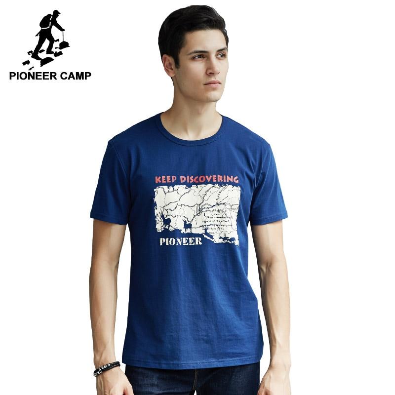 Pioneer Camp Men T Shirt New 2017 Cotton Simple Print