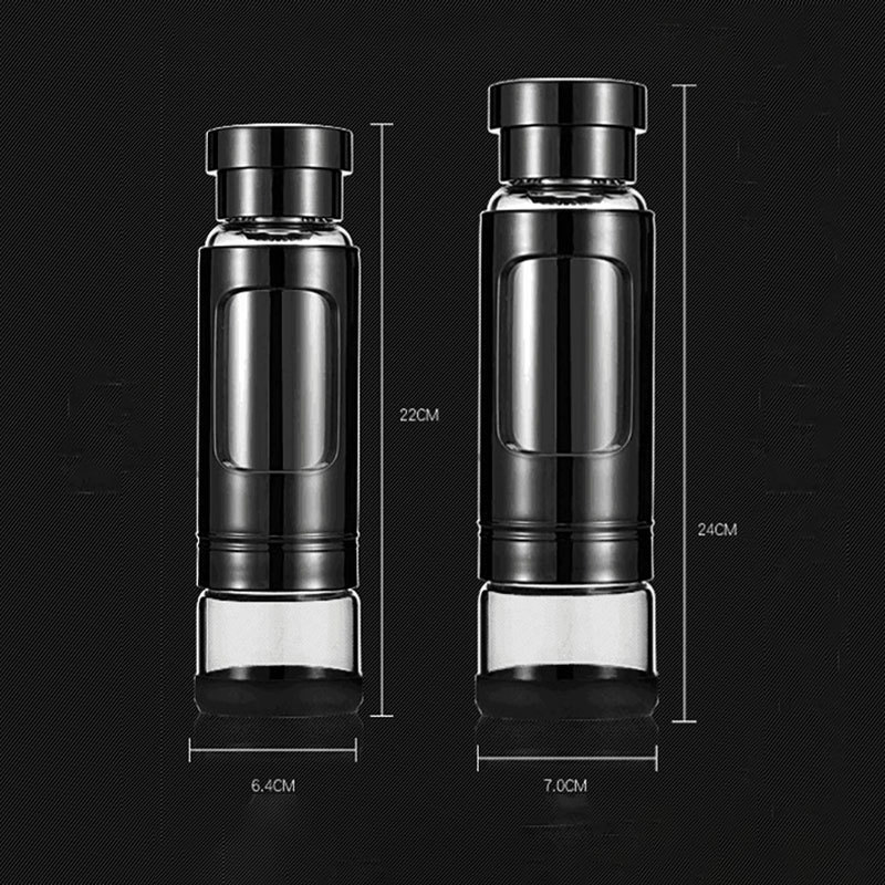 High end Magic Bottle Glass Sport Water Bottle Portable Fruit Juice Tea Milk Drinking Tool 410ml 520ml Outdoor Bike Bottles in Water Bottles from Home Garden