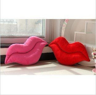 Throw Pillow Back Cushion  Pillow Cute Sexy lips 6pcs/lot free shipping by ems