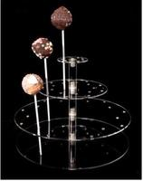 Free Shipping 4 Tier Acrylic Lollipop Display Stand Candy Holder For Home Decor Wedding Favors Size