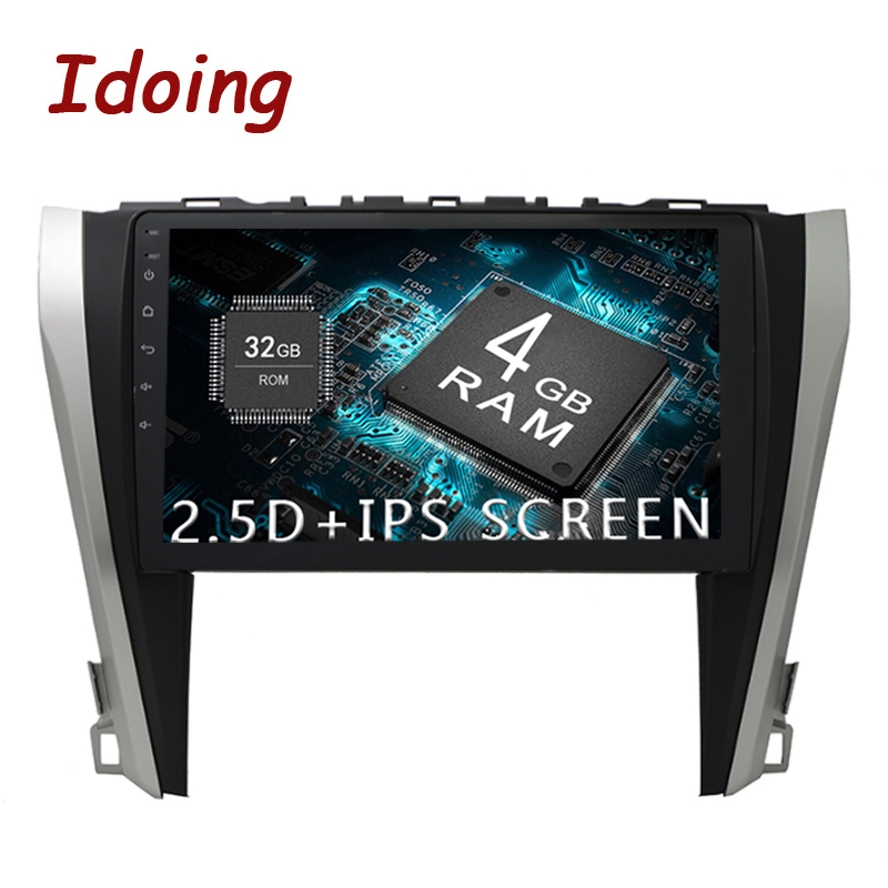 Idoing 10.2IPS 2.5D 4GB+64GB 1Din Android8.0 Car Radio Multimedia GPS Player For Toyota Camry V55 2015 2017 8Core Fast Boot