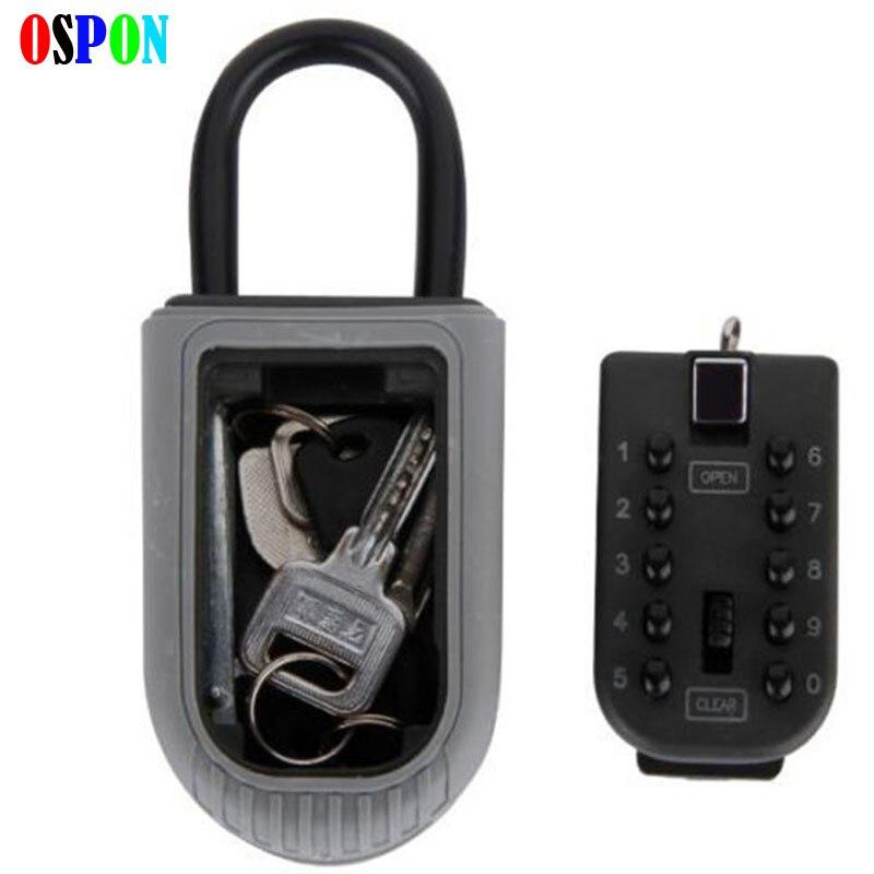 Ключи, Сейф цифра настенное крепление Комбинации замок с четырьмя пароль ключ коробка для хранения цинковый сплав Материал Безопасности Ор... ...