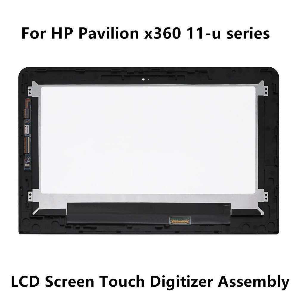 For HP Pavilion x360 11-u011la 11-u000ns 11-u052tu 11-u053tu 11-u103tu LCD Screen Display Touch Panel Glass Digitizer Assembly 11 6 inch laptop screen assembly lcd led display touch glass panel digitizer for hp pavilion x360 11k 11 k