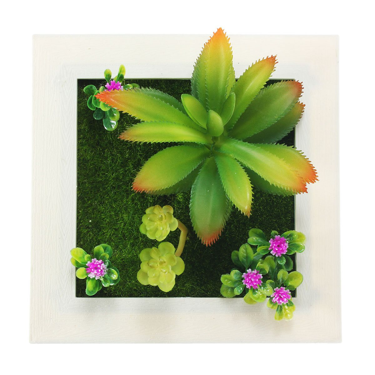 3d metope succulent plants imitation wood plant frame wall hanging 3d metope succulent plants imitation wood plant frame wall hanging stick decoration artificial flower home decoration in artificial dried flowers from jeuxipadfo Image collections