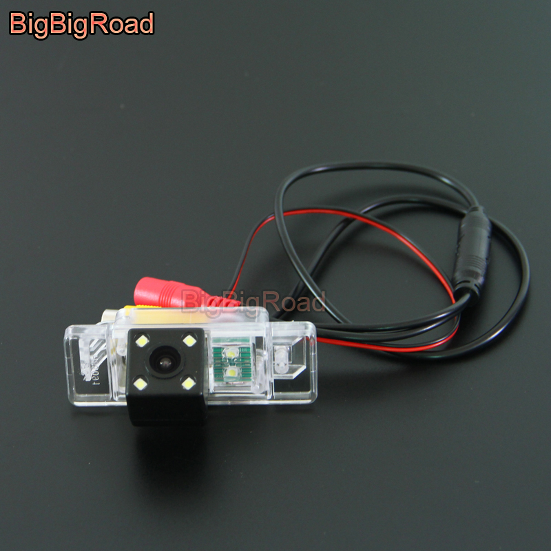 BigBigRoad Car Rear View Camera with Filter For Citroen C4 C5 C Triomphe Peugeot 307cc Pathfinder Dualis Nissan QASHQAI X TRAIL